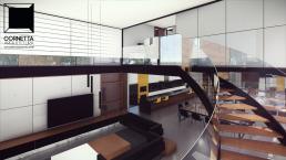 cornetta, arquitetura, architecture, casas estruturas metalicas, estrutura metalica, casas modernas, sobrados, alto padrão, escada metalica, curvas