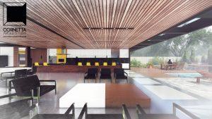 cornetta, arquitetura, architecture, casas estruturas metalicas, estrutura metalica, casas modernas, madeira, varanda gourmet, ilha, bancada, lazer, piscina, deck