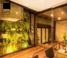 cornetta, arquitetura, architecture, casas estruturas metalicas, jardim interno, jardim vertical, muro verde, casas ecologicas