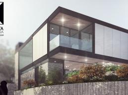cornetta arquitetura, casas modernas, estrutura metalica, estruturas metalicas, fachadas, sobrados, paineis isotermicos, painel isotermico, casa de alto padrão