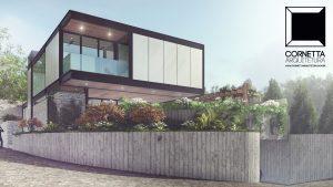 cornetta arquitetura, casas modernas, estrutura metalica, estruturas metalicas, fachada, sobrado, casa ecologica, casas prefabricadas, minimalistas, minimalismo