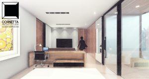 cornetta arquitetura, casas modernas, suite, domritorio, clost, sacada, madeira, estruturas metalicas