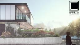 cornetta arquitetura, casas modernas, estrutura metalica, estruturas metalicas, sacada, esquina, madeira, casas ecolgicas