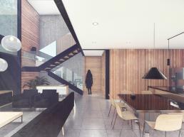 cornetta arquitetura, casas modernas, estrutura metalica, estruturas metalicas, loft, lofts, cozinha integrada, clean, minimalista