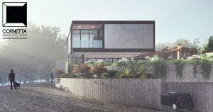 cornetta arquitetura, casas modernas, estrutura metalica, estruturas metalicas, fachada, fachadas, concreto aparente, garagem, desnivel, casas minimalistas, casas modernistas, casa de alto padrão