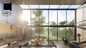 cornetta arquitetura, architecture, prefab, pre moldados, concreto aparente, pé direito alto, vidro, ambientes integrados, ambientes conjugados, loft, prefab, precast, concrete