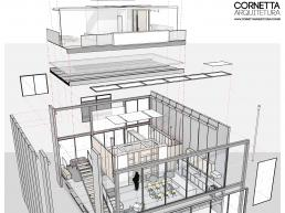 casas modernas, prefabricadas, concreto, loft, revit, bim, perspective
