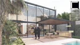 cornetta arquitetura, projetos, arquitetura, casas modernas, pré moldados, concreto aparente, fachadas