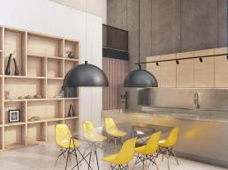 cornetta arquitetura, projetos, arquitetura, casas modernas, pré moldados, concreto aparente, ambientes integrados, ambientes conjugados, cozinha americana