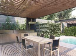 cornetta arquitetura, projetos, arquitetura, casas modernas, pré moldados, concreto aparente, varanda, lazer, piscina, forro, pergolado, madeira, estrutura metalica