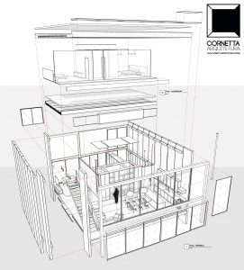 cornetta arquitetura, casas pré fabricadas, pré moldados, concreto aparente, revit, bim, perspectiva, projeto, engenharia estrutural, pré-fabricados