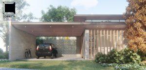 fachadas, casas modernas, casas terreas, estrutura metálica, madeira, dhama, são carlos