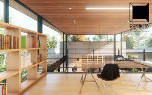 casas modernas, mezanino, estrutura metalica, madeira, concreto, assoalho, escritorio, home office, industrial, vintage