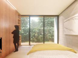 suite, modernas, madeira, jardim, assoalho