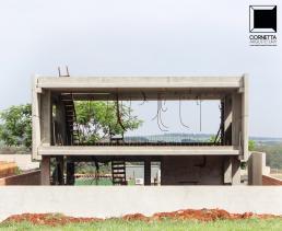 casas modernas, minimalistas, concreto aparente, caixote
