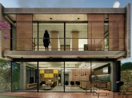 cornetta arquitetura, cornetta, arquitetura, casas de concreto, concreto aparente, pré moldados, madeira, vidro, sacada