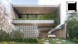 cornetta arquitetura, cornetta, arquitetura, casas de concreto, concreto aparente, pré moldados, fachada, sobrado