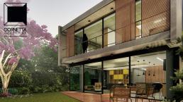 cornetta arquitetura, cornetta, arquitetura, casas de concreto, concreto aparente, pré moldados, varanda, lazer, sacada