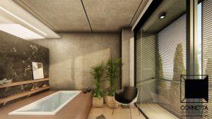 cornetta arquitetura, cornetta, arquitetura, casas de concreto, concreto aparente, pré moldados, spa, banheira, hidromassagem, deck