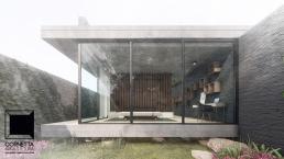 cornetta arquitetura, arquitetura, casas modernas, casas minimalistas, pré-moldados, concreto aparente, suite master