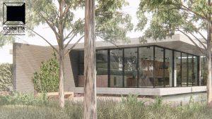 cornetta arquitetura, arquitetura, casas modernas, casas minimalistas, pré-moldados, concreto aparente, casas térreas, fachadas