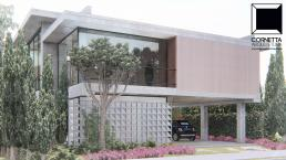 cornetta arquitetura, arquitetura, casas modernas, casas minimalistas, pré-moldados, concreto aparente, fachadas, sobrados, curitiba