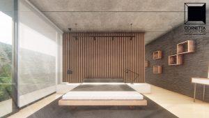 cornetta arquitetura, arquitetura, casas modernas, casas minimalistas, pré-moldados, concreto aparente, suite master, madeira, interiores