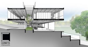 projeto, arquitetura, corte, perspectiva, corte perspectivado, bim