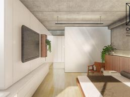 cornetta arquitetura, arquitetura, casas modernas, casas minimalistas, concreto aparente, suíte, suite, madeira