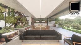 cornetta arquitetura, arquitetura, casas modernas, casas minimalistas, concreto aparente, ambientes conjugados, sala, estar, jantar, cozinha, casa minimalista