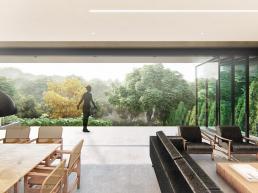 cornetta arquitetura, arquitetura, casas modernas, casas minimalistas, concreto aparente, ambientes integrados, ambientes conjugados
