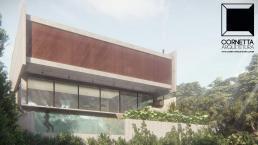 cornetta arquitetura, arquitetura, casas modernas, casas minimalistas, concreto aparente, fachada, clean, pré moldados, pre moldados, premoldados, casa minimalista