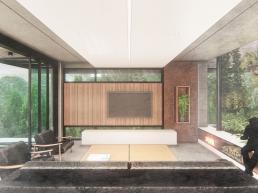 cornetta arquitetura, arquitetura, casas modernas, casas minimalistas, concreto aparente, living, sala, estar, ambientes integrados