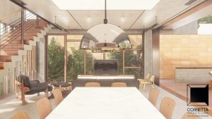 cornetta, arquitetura, ambientes conjugados, integrados