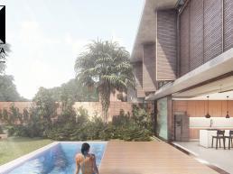 cornetta arquitetura, casas modernas, pré fabricados, concreto aparente, madeira, vidro, lazer, pscina
