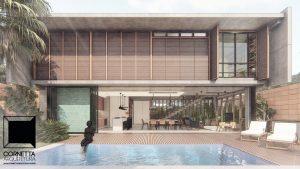 casas minimalistas, cornetta arquitetura, casas modernas, pré fabricados, concreto aparente, madeira, vidro, fachadas, minimalistas
