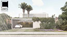 cornetta arquitetura, casas modernas, pré fabricados, concreto aparente, madeira, vidro, fachada, minimalista
