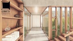 cornetta arquitetura, casas modernas, pré fabricados, concreto aparente, madeira, vidro, jardim interno, minimalismo