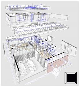 cornetta, arquitetura, prefab, concrete, houses