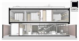 projeto, arquitetura, arquiteto, corte perspectivado, perspectiva, bim