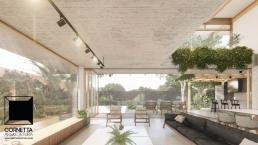 cornetta arquitetura, arquitetura, architecture, casas modernas, concreto aparente, madeira laminada colada, mlc, sala de estar