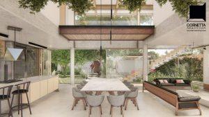 cornetta arquitetura, arquitetura, architecture, casas modernas, concreto aparente, madeira laminada colada, mlc, passarela, estrutura metalica