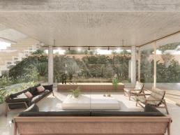 cornetta arquitetura, arquitetura, architecture, casas modernas, concreto aparente, madeira laminada colada, mlc, estar, living
