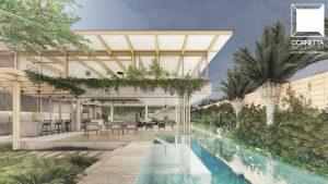 cornetta arquitetura, arquitetura, architecture, casas modernas, concreto aparente, madeira laminada colada, mlc, fachadas, piscina