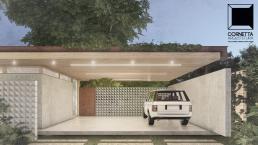 cornetta arquitetura, arquitetura, architecture, casas modernas, concreto aparente, madeira laminada colada, mlc, fachada, garagem, aço corten