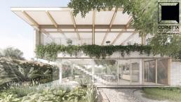cornetta arquitetura, arquitetura, architecture, casas modernas, concreto aparente, madeira laminada colada, mlc, arvore, ecologia