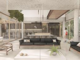 cornetta arquitetura, arquitetura, architecture, casas modernas, concreto aparente, madeira laminada colada, mlc, ambientes conjugados, cozinha