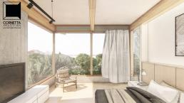 cornetta arquitetura, arquitetura, architecture, casas modernas, concreto aparente, madeira laminada colada, mlc, suíte, suite