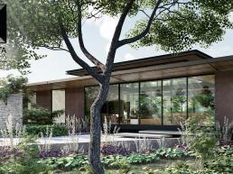 casa moderna térrea, loft, estruturas metalicas, vidro, madeira, minimalismo
