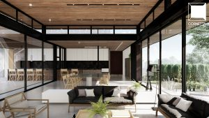 casas modernas, madeira, estrutura metalica, metal, vidro